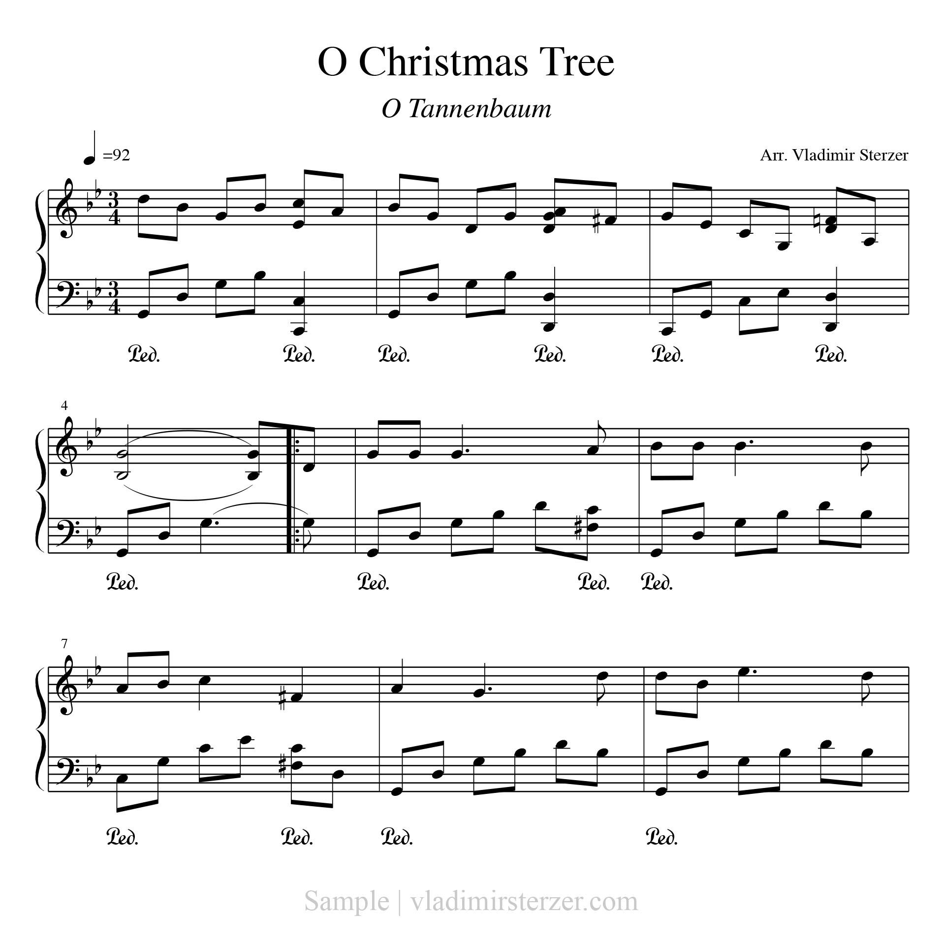 Noten Von O Tannenbaum.Christmas In Minor Weihnachten In Moll Notenbuch Pdf
